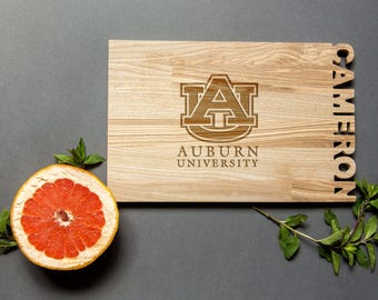Auburn University cutting board – Sports cheese board inspired – Laser engraved Christmas present best gift for men