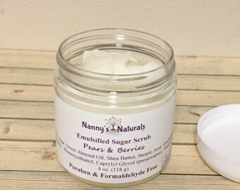 Emulsified Sugar Scrub, Sweet Almond Oil, Shea Butter, Paraben, Phthalate and Formaldehyde Free