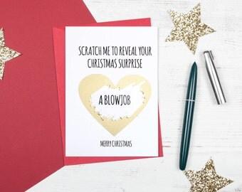 Funny scratch me card - Christmas Blowjob