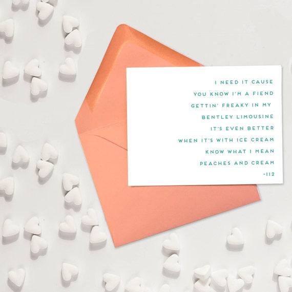 """112 """"Peaches & Cream"""" - Anniversary Card"""