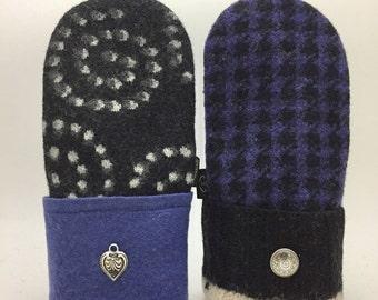 Baabaazuzu Felted Wool Sweater Mittens