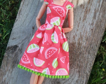 Summer Watermelon~Barbie Clothes, Barbie Dress, Doll clothes, 11.5 inch doll clothes