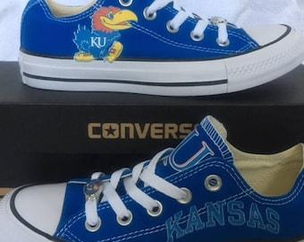 University of Kansas Jayhawks KU Converse Chuck Taylor Sneakers