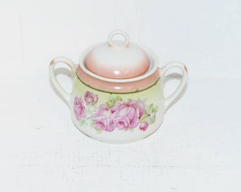 Antique Sugar Bowl with Lid - 1575
