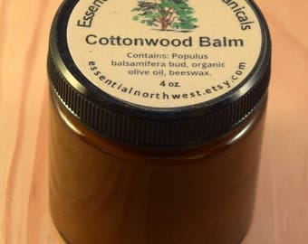 Cottonwood Balm 4 oz. jar  - Balm of Gilead - Cottonwood Salve