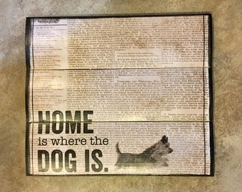 Dog Decor, Home is Where The Dog Is, Wooden Wall Art, Wood Wall Decor, Wooden Wall Decor, Wood Art, Dog Wall Art, Small Wall Art