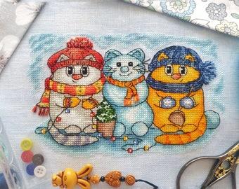 Christmas Cross Stitch Pattern-Cute cross stitch pattern-Modern Cross Stitch Pattern-Winter cross stitch pattern-Xmas Cross Stitch