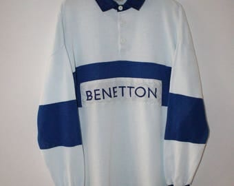 Benetton Polo Rugby Vintage 90s Rare Item