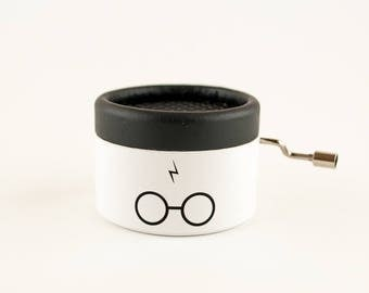 White Music Box with Harry Potter's music, harry potter gift