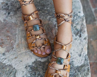 Leather tie up sandals, Gladiator sandals, leather sandals, tie up sandals, summer sandals, boho sandals, bohemian