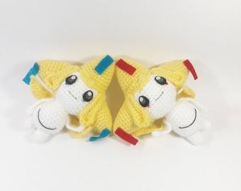 Shiny Jirachi crochet toy /Amigurumi / pokemon /shiny pokemon /yarn figures/ gift ideas