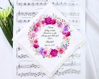 Wedding Handkerchief, Mother of the Bride Handkerchief,Mother of the Bride, Wedding Hankerchief, Mother of the Bride Hankerchief,Mom Gift #1