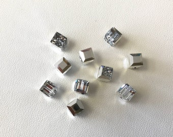 5601 Swarovski® 6mm Cube - Comet Argent Light CAL - Pkg of 12 pieces