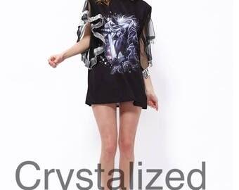 Beautiful unicorn ruffle shirt / tunic