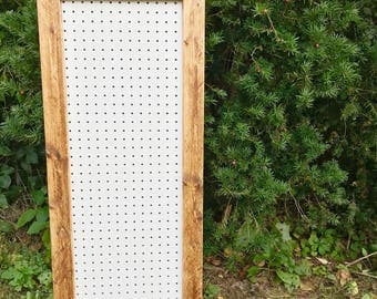 Rustic Pegboard, Pegboard Display, Large Pegboard, Framed Pegboard, Pegboard Frame, Nursery Peg Board, Nursery Display, Pegboard DIY Decor