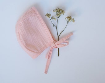 Double gauze Bonnet / pink