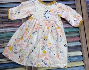 Girls dress, Little girls dress, Toddler dress, Girls knit dress, Girls fall dress, Toddler Fall dress, Boho girls dress.