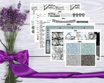 Owl Have a White Winter Vertical Weekly Kit -- Planner Sticker Kit -- Matte Sticker Kit