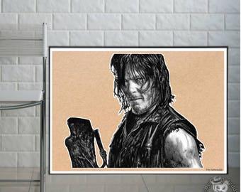 Daryl Dixon  - Fine Art Print - A4/A3