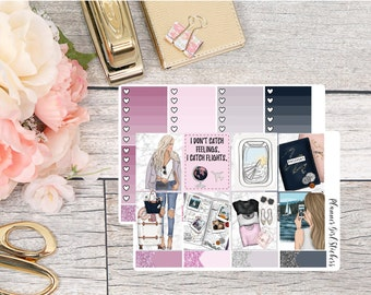 Travel Weekly Kit Planner Stickers - For Erin Condren Life Planner