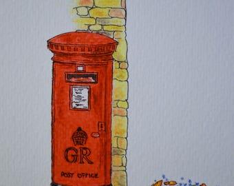 Red pillar box sketch