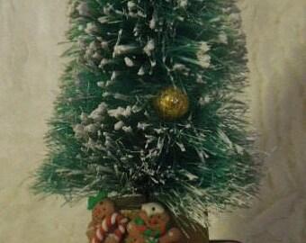 Christmas Tree Topiary, Christmas Tree Tabletop Decor, Xmas Gift Card Holder, Bottlebrush Xmas Tree Decor, Xmas Tree Decor