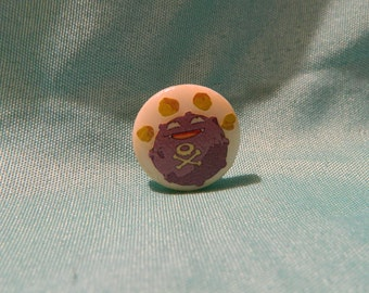 Koffing - Pokemon - Upcycled Hat/Lapel Pin