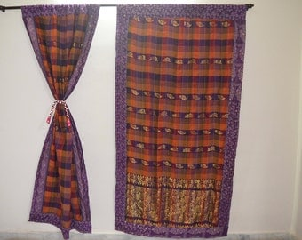 GIFT Indian quilt Hippy curtain Indian curtain Boho curtain gypsy curtain partition room divider recycled vintage Bohemian curtain QC45
