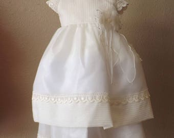 Robe of christening, baptism dress, baptism gown, christening dress