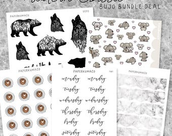 modern classic - sticker bundle for bullet journals, journals, planners etc. - LIMITED TIME ONLY