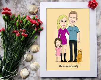 Custom Portrait Illustration, Custom Illustration Couple, Family Portrait Illustration, Custom Digital Portrait, Digital File