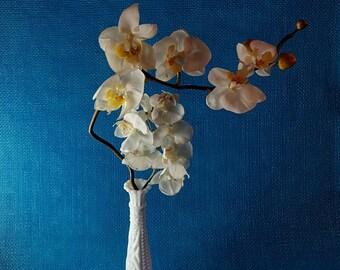 Vintage milk glass vase - vintage vase - bud vase - white vase - tall vase - wedding decor - home decor - table decor