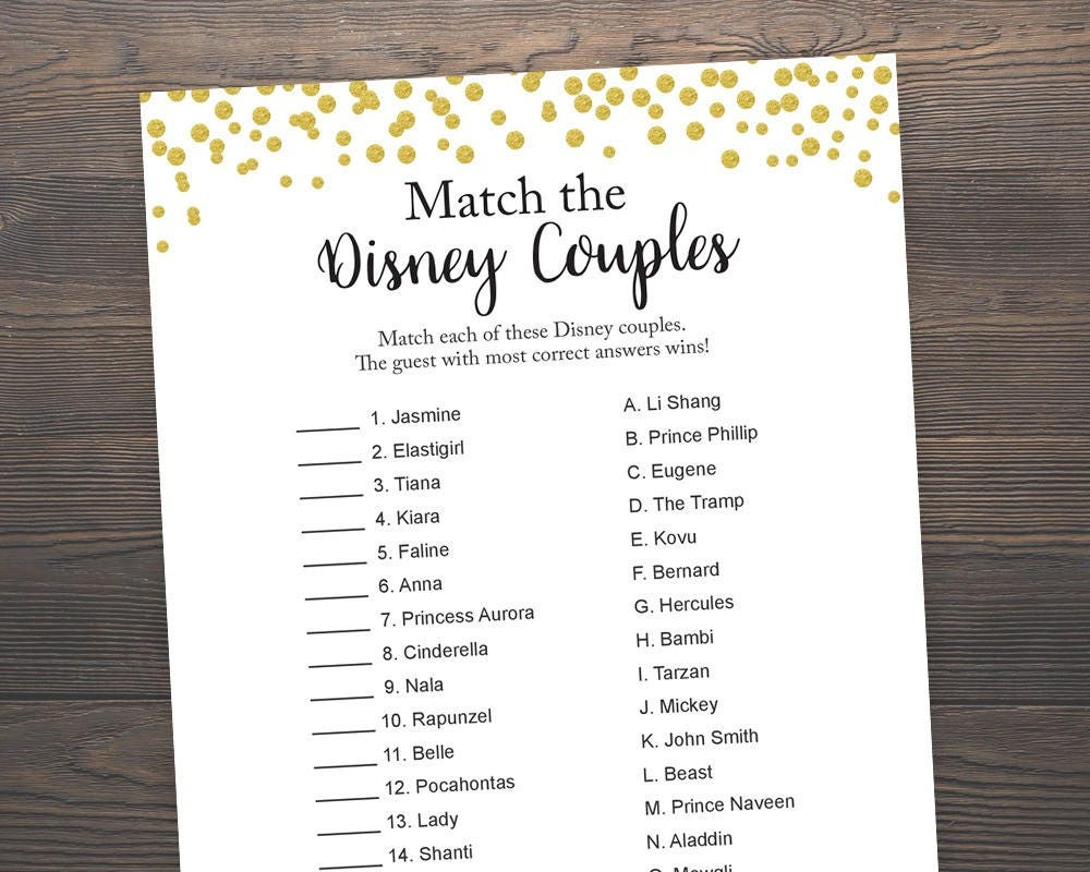Ambitious image intended for free printable disney bridal shower games