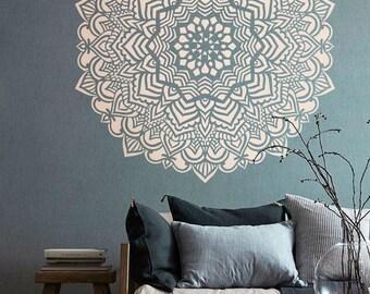Mandala stencil Mandala pattern for DIY Wall decor Modern home stencils Mandala wall art Yoga studio decor  #s015