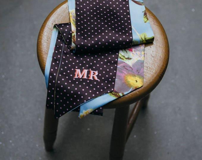 Flowers scarf + Monogram