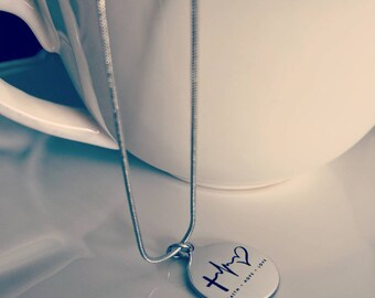 Faith. Hope. Love. Stainless Steel Necklace