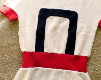 BALENCIAGA PARIS short sleeve cream wool top