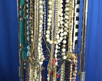Large Lot of Vintage Beaded Necklaces Emmons Germany Monet Japan