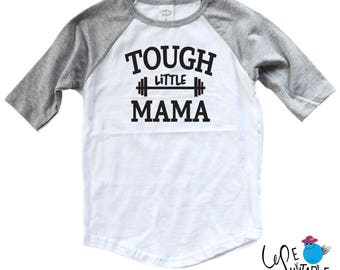 Crossfit Toddler Shirt - Tough Little Dude or Mama Workout Shirt - Tough Little Toddler Shirt - Crossfit Mom - Future Crossfitter - WOD