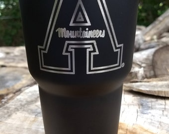 College and University Logo Engraved Yeti 30 oz Rambler