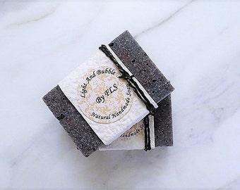 Charcoal shea butter soap - Grapseed oil - sea salts