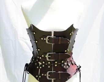 Handmade Leather Corset - Steampunk/LARP
