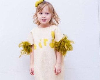 "Kid's dress ""Little Bird"" (make to order), felted kid's dress"