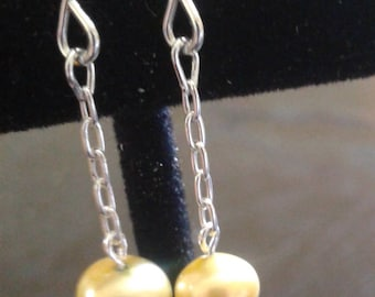 Yellow Pearl Earrings/Handmade/Sterling Silver/Special Occasion/Gift It