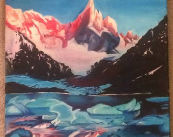 Icy Mountain Painting