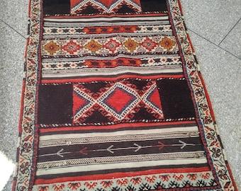 Moroccan Rug Carpet Kilim Kelim Berber Handmade Wooven Atlas Wool Authentic tazenakht