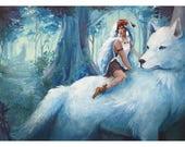 Princess Mononoke | LIMITED EDITION | Signed Gouache Print