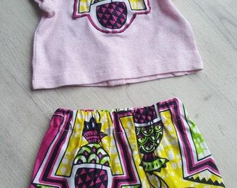 Wax baby skirt & T-shirt set