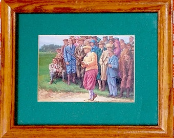 Framed GOLF Prints of Golf Outings in the 1930's, 40's and 50's,  Set of 3