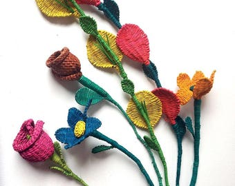 Flowers Bouquet (6pcs Grass Weave flowers)